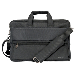 Promate Apollo-MB Messenger Bag Laptop, Multifunction Shoulder Bag with Multiple Storage Pocket, Detachable Sling and Water-Resistance for 15.6 Inch Laptops, Tablet, Black