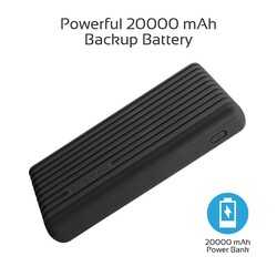 Promate 20000mAh Titan-20C Type-C Power Bank, Portable 3.1A Dual USB Fast Charging External Battery Pack with USB-C Input/Output Port, Over-Charging Protection