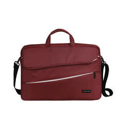 Promate Charlette Modern Styled Messenger Bag for Laptops Upto 15.6 Inch, Red