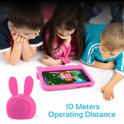 Promate Bunny Kids Bluetooth Speaker, Portable Wireless V4.1 Speaker with HD Sound Quality, Hands-Free Call Function and Cute Bunny Design, Pink
