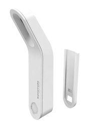 Promate MotionCandle-1 Motion Sensor LED Light, Cordless Battery-Operated, Motion Sensor, Built-In Rechargeable Battery, Stick-Anywhere Magnetic Wall Mount for Hallways/Basement/Bathroom, White