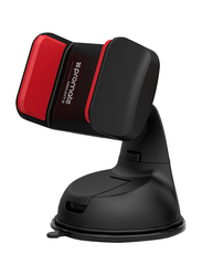 Promate Mount-2 Car Holder, Car Mount Holder for Smartphone and GPS, Red