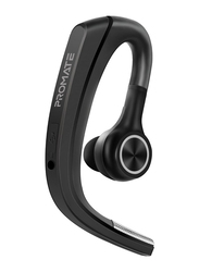 Promate Motion Wireless Bluetooth On-Ear Music Noise Cancelling Headset, Behind the Ear-Hook with Built-In Omnidirectional Mic, Multi-Point Pairing and HD Voice, Black