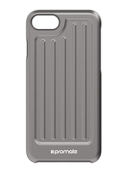 Promate Metal-i7 iPhone 7 Cover Case, Hard Shell Impact Resistant, Aluminum iPhone 7 Case, Grey