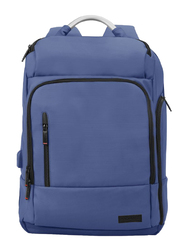 Promate TrekPack-BP 17.3-Inch Laptop Backpack Bag with Multi-Storage Water-Resistant, Anti-Theft Pockets, Padded Adjustable Strap, Insulated Side Pocket and USB Charging Port, Blue