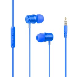 Promate Travi Wired Earphone, Premium Magnetic Stereo Earbuds with Microphone, Built-In Volume Control, 1.2m Tangle Free Wire and Noise Cancellation, Blue