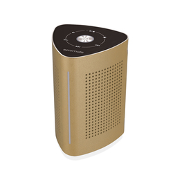Promate Cyclone Wireless Speaker, High-Quality 36W Bluetooth Surface Vibration Sound with Touch Control System, 3.5mm Audio Jack and Built-In Microphone, Gold
