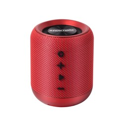 Promate Hummer Wireless Speaker, Portable 10W Bluetooth v4.2 with HD Sound Quality, Built-In Mic, FM Radio, Micro SD Card Slot and Auxiliary Port, Red