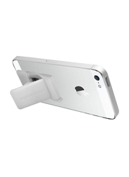 Promate GripMate Universal Smartphones Secure Finger Grip and Kick Stand, White