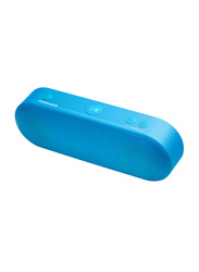 Promate Capsule 6W HD Portable Bluetooth Speaker, 3H Playtime, FM Radio, 3.5mm Audio Jack, USB Media Port and SD Card Slot, Blue