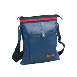 Promate TabPak-S Lightweight Shoulder Bag for Tablets up to 7.8 with Quick Access Pocket, Blue