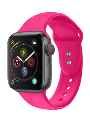 Promate Oryx-38SM Silicone Sport Strap for Apple Watch 38mm/40mm Series 1/2/3/4, Small/Medium Size, Premium Adjustable Strap with Sweatproof and Dual Lock Pin, Workout, Fitness, Pink