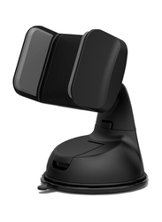 Promate Mount-2 Car Holder, Car Mount Holder for Smartphone and GPS, Black