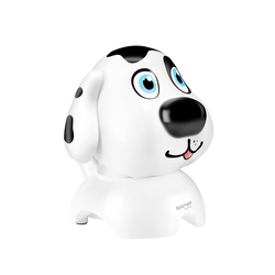 Promate Snowy Bluetooth Speaker, Portable Wireless Doggie Design with 3W Output HD Sound, Micro SD Card Slot, Audio Aux Port, FM Radio and Built-In Microphone, White