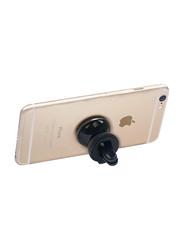 Promate VentGrip Anti-Slip Magnetic Car AC Vent Universal Mobile Holder, Black