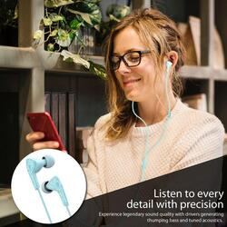 Promate Medley-1 Sports In-Ear Headphones, Premium Hi-Fi Stereo, Noise-Isolation with Microphone, Crystal Sound and Anti-Tangle Wires for Workout, Green