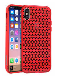 Promate Neo-X iPhone X Case, Stylish Shockproof Dual Layer Protective Case with Anti-Slip Grip, Drop Protection and Scratch Resistance Case, Red