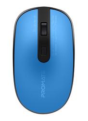 Promate Suave-2 USB Type-C/Type-A Wireless Ergonomic Optical Mouse, Blue