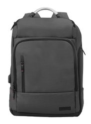 Promate TrekPack-BP 17.3-Inch Laptop Backpack Bag with Multi-Storage Water-Resistant, Anti-Theft Pockets, Padded Adjustable Strap, Insulated Side Pocket and USB Charging Port, Black
