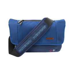 Promate Azzure-S Messenger Bag for Laptops & Tablets up to 12.5 Inch with Multiple Pocket Options, Blue