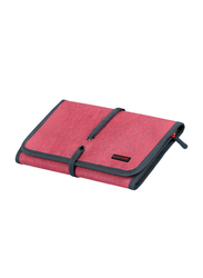 Promate Travelpack Multi-Purpose Accessories Organizer for Women, Large, Red