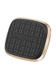 Promate Magnetto Magnetic Car Mount, Universal Slim Flat Stick-On Dashboard with 360 Degree Cradle-Free Design and Anti-Slip Surface, Gold