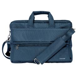 Promate Apollo-MB Messenger Bag Laptop, Multifunction Shoulder Bag with Multiple Storage Pocket, Detachable Sling and Water-Resistance for 15.6 Inch Laptops, Tablet, Blue