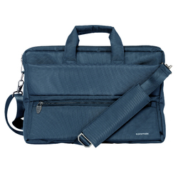 Promate Apollo-MB Messenger Bag Laptop, Multifunction Shoulder Bag with Multiple Storage Pocket, Detachable Sling and Water-Resistance for 15.6 Inch Laptops, Tablet, Blue
