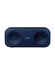 Promate Otic 10W Wireless Bluetooth V5.0 Stereo Speaker, with Built-In Mic, 2000mAh Rechargeable Battery, USB Port, AUX and MicroSD Card Slot, Navy