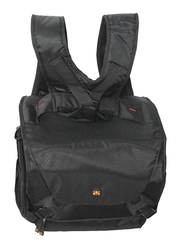 Promate Linepak Compact Hybrid SLR and DSLR Camera Bag for Canon/Nikon/Panasonic/Sony with Multiple Pockets, Black