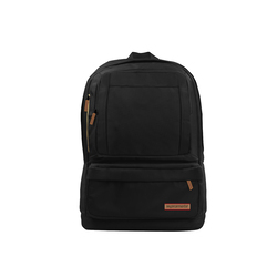 Promate Drake Premium 15.6 Inch Laptop Backpack Bag With Multiple Pocket Options, Black