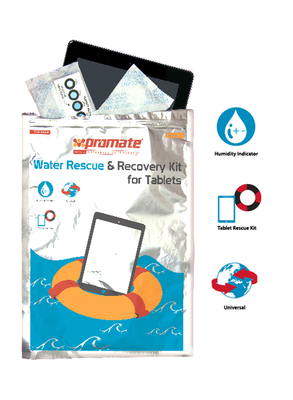 Promate driPak-T Water Rescue Damage Repair and Recovery Kit for Tablet, White