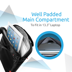 Promate Rebel-MB Heavy Duty Messenger Bag for iPad Tablet and Laptop Upto 13.3 Inch