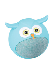 Promate Hedwig 3W Portable Mini Owl Wireless Bluetooth v5.0 Speaker, with Built-In Microphone and 400mAh Rechargeable Battery for Kids/Smartphones/Tablets/iPod, Blue