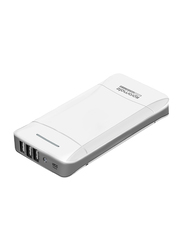 Promate 20800mAh Provolta-21 Portable Ultra-High Capacity Fast Charging Power Bank with 3.1A 3 USB Ports Output, White