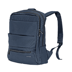 Promate Apollo-BP Laptop Backpack, Slim Lightweight Dual Pocket Water Resistance with Multiple Compartment and Anti-Theft Pocket for 15.6 Inch Laptops, Tablets, Blue