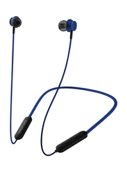 Promate Bali Bluetooth In-Ear Neckband Earphones with Built-in Hi-Res Mic, Magnetic Closure, Blue