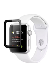 Promate Guardio-40 Screen Protector for Apple Watch 40mm Series 4, 3D Full Coverage Tempered Glass with Scratch Resistance 9H Hardness and Anti-Fingerprint, Clear