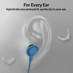 Promate Ice 3.5mm Jack In-Ear Noise Isolation Earphones with Hi-Res Built-in Mic, Blue