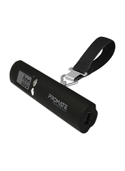 Promate 2600mAh PowerScale Power Bank, Multi-Function 3-in-1 Digital Luggage Scale, Black