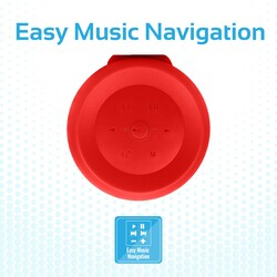 Promate Silox True Wireless Stereo Speaker, Portable Bluetooth 20W with IPX6 Water Resistant, FM Radio, Micro SD Card Slot, USB Port, Audio Jack and Built-In Mic, Red