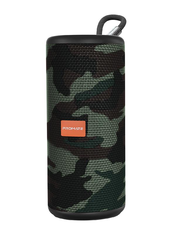 Promate Pylon Portable Bluetooth Stereo Sound Speaker, Camouflage