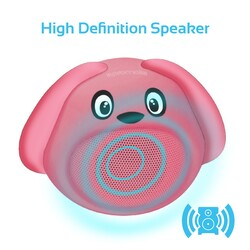 Promate Snoopy Wireless Speaker, Portable Kids Bluetooth v4.1 Speaker with HD Sound Quality, Hands-Free Call Function and Cute Dog Design, Pink
