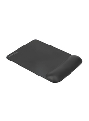 Promate Accutrack-3 Mouse Pad for Laptops/Desktop, Ergonomic Non-Slip with Anti-Microbial Memory Foam Wrist Support & Large Accurate Tracking Surface, Black