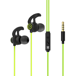 Promate Swift In-Ear Wired Earbuds, Premium 3.5mm, HD Stereo Sound, Built-In Mic, Sweat Resistant, Anti-Tangled Cords and Passive Noise Cancelling, Green