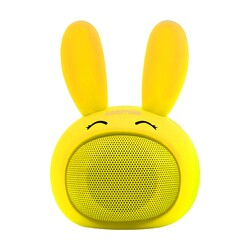 Promate Bunny Kids Bluetooth Speaker, Portable Wireless V4.1 Speaker with HD Sound Quality, Hands-Free Call Function and Cute Bunny Design, Yellow