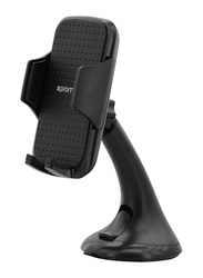 Promate Mount Universal Car Mount Mobile Grip Holder with Suction Cup, Black