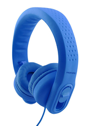 Promate Flexure 2 Kids Over-Ear Noise Cancelling Music Headset, with Mic, Adjustable Headband, Blue