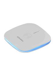 Promate AuraPad-4 Premium Sleek Wireless Charging Pad, 10W Qi Enabled Technology, USB Type C Port for Smartphones, White