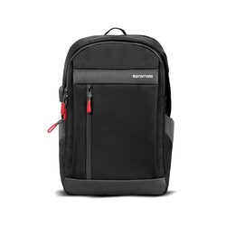 Promate Metro-BP Laptop Backpack, Multi-Purpose for 13 Inch Laptop with USB Charging Port, Multiple Storage, Adjustable Straps and Water Resistant, Black
